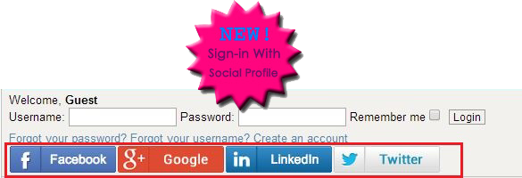 Social Sign in on Forum